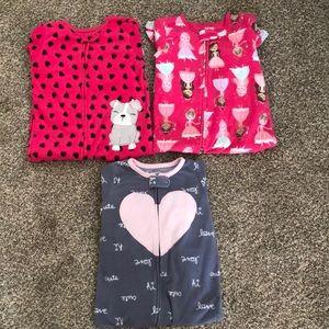 Girls 18m fleece footie pajamas